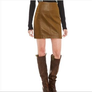 Free People Modern Femme Faux Suede Mini Skirt